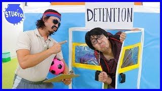 Back to School Giant Obstacle Course & ALREADY IN DETENTION !