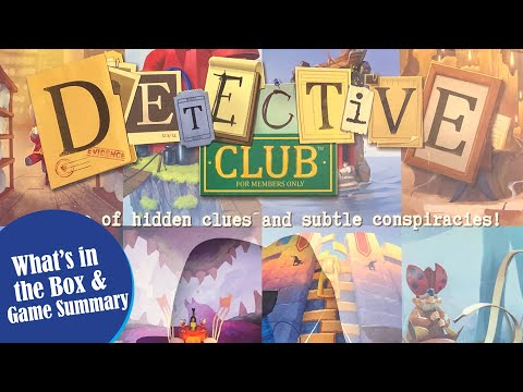 DETECTIVE CLUB Unboxing and Quick Game Summary