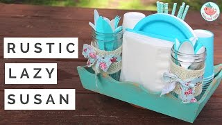 Learn how to make a easy lazy susan with no special tools (no bearings)! I used a wooden tray and made it look rustic with two layers of paint and a sanding block. This is arguably one of the laziest lazy susans you can make. The DIY organization hack is great for kitchens, party table settings, picnic tables, and more. I used mason jars to store utensils/cutlery.Promotional consideration provided by Paper Mart. All opinions are my own. Shop Paper Mart: https://fbit.co/4ymMSELECT MATERIALS/ADS:Ball Quilted Crystal Mason Jars: http://bit.ly/2qPpoOAVorra Vintage Floral Ribbon: http://bit.ly/2pinE0lRectangular Scalloped Wood Tray Set: http://bit.ly/2ptDAbbWhite Natural Jute Fabric: http://bit.ly/2qZMyPdPaper Straws: http://bit.ly/2pi7tzRMUSIC:Leaf Times Two by Kevin MacLeod is licensed under a Creative Commons Attribution license (https://creativecommons.org/licenses/by/4.0/)Source: http://incompetech.com/music/royalty-free/index.html?isrc=USUAN1200096Artist: http://incompetech.com/------ABOUT: Hello my crafty friends! I'm Jenny, from NYC, and I LOVE to craft. I've created hundreds of paper craft and origami tutorials, do-it-yourself (DIY) crafting tutorials, and general craft tutorials, so be sure to subscribe and check back frequently. :-)INSTAGRAM: https://Instagram.com/OrigamiTree/FACEBOOK: https://www.Facebook.com/OrigamiTreeSNAPCHAT: https://www.snapchat.com/add/OrigamiTreeTWITTER: https://Twitter.com/OrigamiTreePINTEREST: http://www.Pinterest.com/OrigamiTreeWEBSITE: http://www.OrigamiTree.comShare your crafts in the Fan Gallery (bit.ly/OTFanGallery), or on social media with #OrigamiTree. You may also visit OrigamiTree.com, for free craft tutorials, demos, printable origami paper, and more!Business Inquiries: JennyOrigamiTree@gmail.com