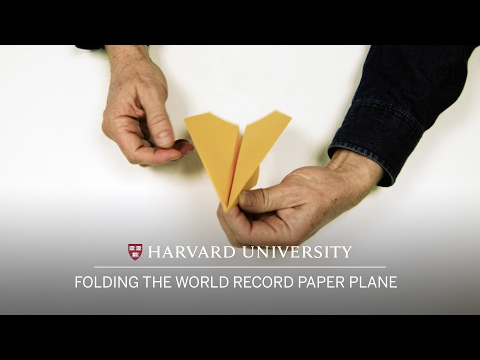 How To Fold a Record Breaking Paper Plane