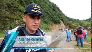 Paso cerrado en frontera El Poy por derrumbes en Honduras