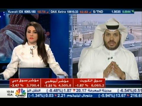 لقاء المحلل بن فريحان في جرس افتتاح سوق الأسهم بقناة CNBC الخميس 20-8-2015