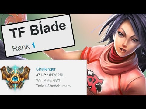 """THE FIRST PERSON TO REACH CHALLENGER NA SERVER (In Season 8 on NA Server) """"TF Blade"""""""