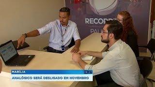 Marília se prepara para o desligamento do sinal analógico que será em novembro