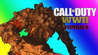 COD WW2 Zombies Funny Moments - Easter Egg Boss and POOB Clan Tryouts!