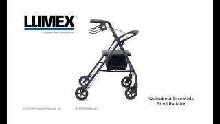 Lumex Walkabout Steel Four Wheel Rollator