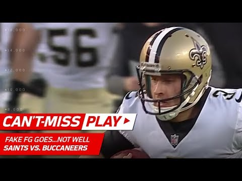 Video: New Orleans Kicker Tries a Fake Field Goal Run...It Does Not Go Well | Can't-Miss Play | NFL Wk 17