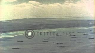 Chester (CA) United States  city photo : U.S. fleet in bay near Ulithi Island during World War II. Cruiser USS Chester (CA...HD Stock Footage