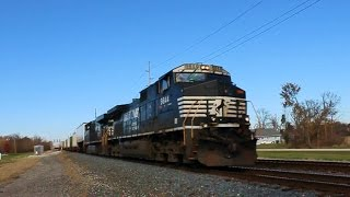 Millbury (OH) United States  City new picture : NS C44-9W & ES44DC GEVO lead an EB Piggyback Intermodal Train through Millbury