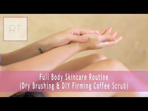 Full Body Skincare Routine (Dry Brushing & DIY Firming Coffee Scrub)   Rachel Talbott