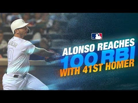 Video: Pete Alonso ties Mets single-season HR record