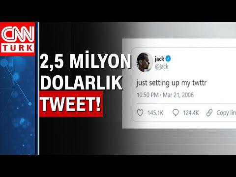 Twitter'daki ilk tweet 2 buçuk milyon dolara satıldı!