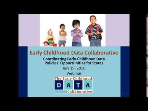 Coordinating Early Childhood Data Policies: Opportunities for States