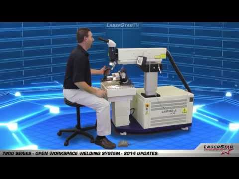 "<h3>Mold Repair Laser Welding Workstation - 7800 Series</h3>In this laser welding video brought to you by <a href=""http://laserstar.net"">http://laserstar.net</a>, we demonstrate the 7800 Series Open Workspace Laser Welding Workstation and it's new updates and features.<br />"