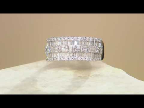 Baguette & Round Diamond Band Ring, 14K, 1.00 cttw, by Affinity on QVC