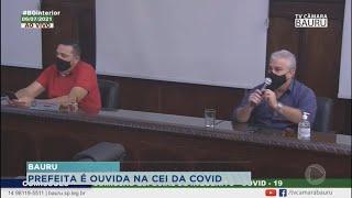 """Prefeita de Bauru é ouvida na """"' CEI da Covid-19"""""""
