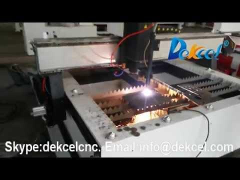 Dekcel cnc plasma cutter with America thermadyne 40A cutting 8mm steel