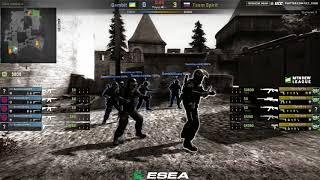 Esea || Team spirit vs Gambit || bo1 || Norov & Toll