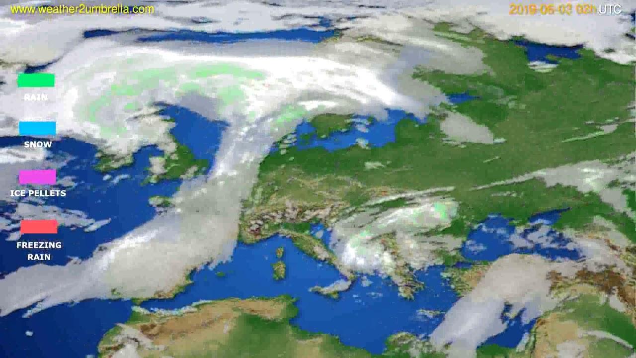 Precipitation forecast Europe // modelrun: 00h UTC 2019-05-31