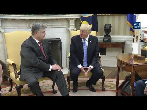 President Trump Meets with President Petro Poroshenko of Ukraine 6-20-17