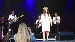 """Angelina Jordan sings """"Lovin' You"""" in Sandefjord 12.07.2017 Biggest thanks to the user Garth C from the Starburst forum and..."""
