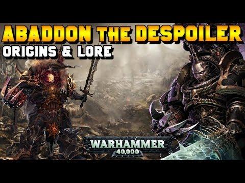 Abaddon the Despoiler: Origins & Lore (Fall of Cadia) | Warhammer 40,000