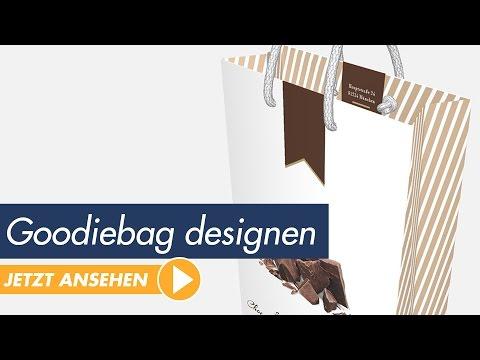 InDesign Tutorial - kreative Papiertragetasche (Goodiebag) gestalten und druckfertig exportieren