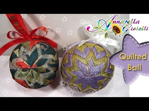 palle di natale in patchwork