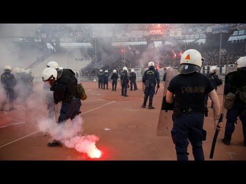 Griechenland: Schwere Ausschreitungen beim Fußball-Po ...