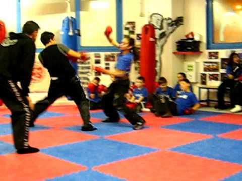 Combattimento bimbi semi contact Mery vs Gianluca