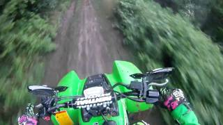 6. 2004 Kawasaki KSF 250, 2006 Yamaha YZ 85, 2004 Honda CRF 250 Trail Riding Abernant