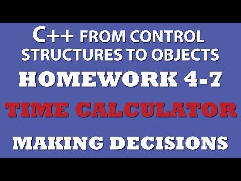 C++ Time Calculator (Ex 4.7) – Making Decisions
