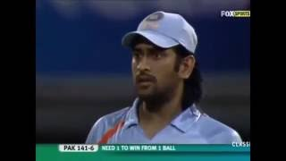 India vs Pakistan- T20 World Cup 2007 tied match Video- Chasing India's modest total of 141 for 9, Pakistan made a late charge to finish level on 141-7.