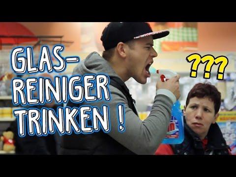 Glasreiniger trinken! PRANK