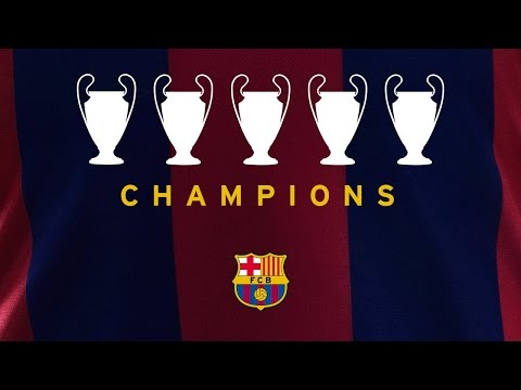 FC Barcelona UEFA Champions League Winners