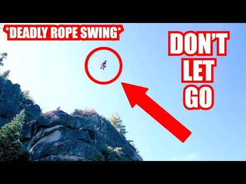 * DON'T LET GO* HIGHEST ROPE SWING EVER MADE!!! 4K