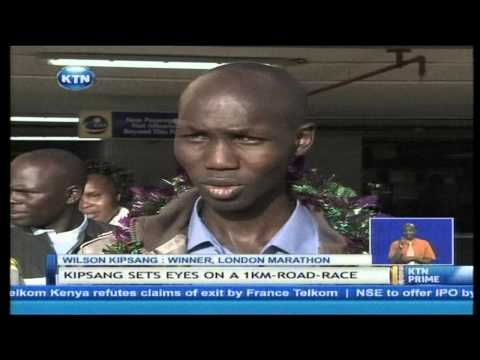kenyan - There is no time to rest for the 2014 London marathon men's winner, Wilson Kipsang. the world record holder who jetted back to the country this morning says ...