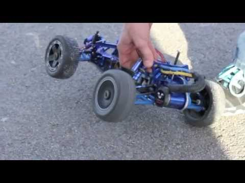 Fast Remote Control (RC) Car Street Racing (Fully Modified VXL Rustler)