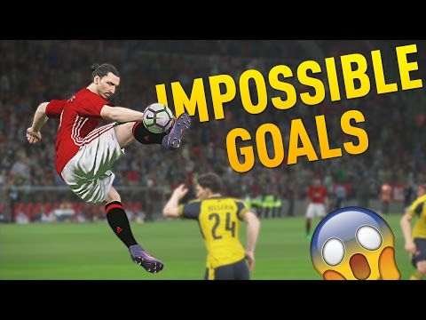 PES 2017 - IMPOSSIBLE GOALS COMPILATION ft. Zlatan Ibrahimovic