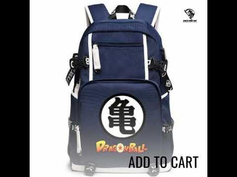 Boys-Girls-Anime-Dragon-Ball-Canvas-USB-Charger-Backpack