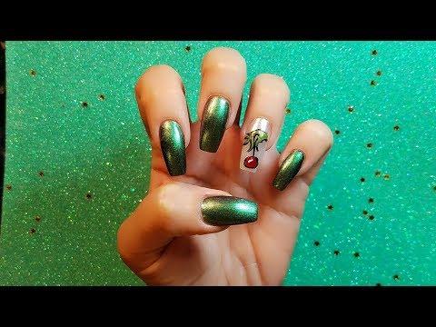 Diseños de uñas - Grinch Diseño de Uñas