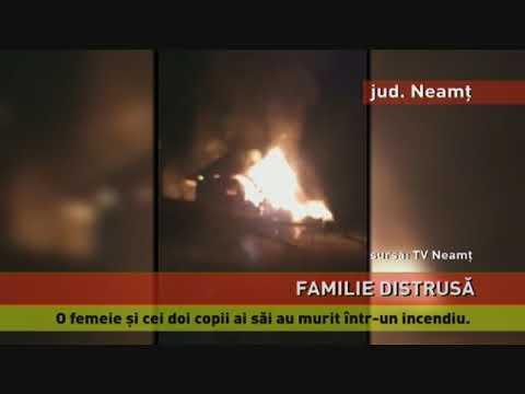 O femeie și doi copii au murit într-un incendiu