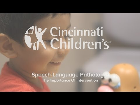 Speech-Language Pathology: The Importance Of Intervention | Cincinnati Children's