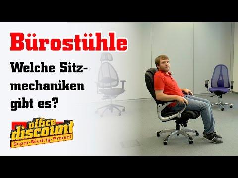 Bürostühle: Welche Sitzmechaniken gibt es?