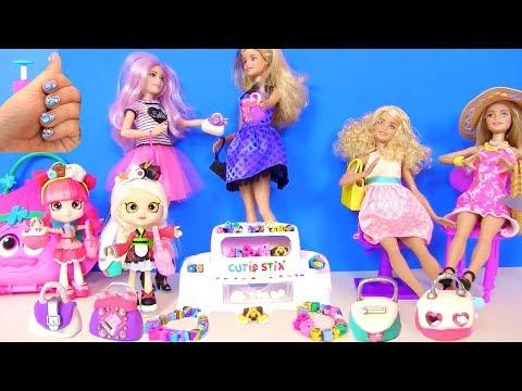 Аксессуары, Маникюр, Наряды и Украшения Своими руками для Кукол Барби и Ш… видео