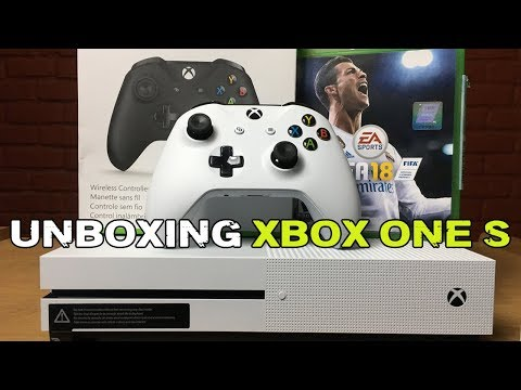 Xbox One S Unboxing, Setup And FIFA 18 Gameplay | 2018 | LATEST