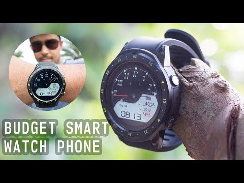 $59 TenFifteen F1 BUDGET SMART WATCH PHONE Unboxing And Review - Gearbest.com