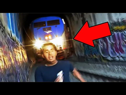 Top 10 Luckiest Peoples Caught on Camera   Close Calls Caught on Tape   Last Moment Stupid Survivals