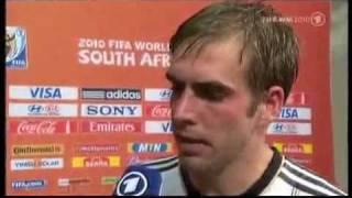 Enttäuschter Lahm im Interview nach 0:1-Niederlage gegen Spanien