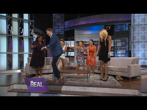 """Stroll - He'a a man of many talents, and during his visit to """"The Real,"""" Tyler Ritter proved that balancing in high heels is one of them. Watch """"The McCarthys"""" star take a stroll in Tamar's..."""